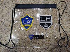 Los Angeles Kings LA Galaxy 2018 Co Branded Clear Drawstring Bag SGA