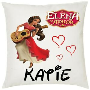 Personalised Elena Of Avalor Soft Kids Cushion Cover, 40x40cm Boys/Girls