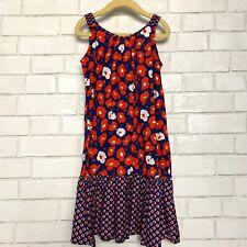Kenzo Kids Girls Floral Sun Dress Red Blue 10 140