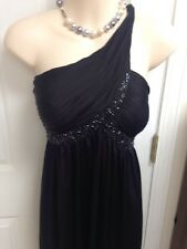 adrianna papell Women Black Dress New Prom Size 14