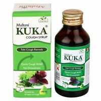 MULTANI KUKA COUGH SYRUP TULSI COUGH REMEDY -100ML NO DROWSINESS / QUICK RELIEF.
