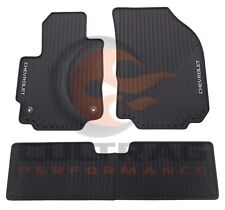 2018 2019 Chevrolet Equinox Genuine GM Front & Rear All Weather Floor Mats Black