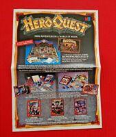 Original Advert Leaflet 1990s Heroquest Space Crusade Battle Masters Board Game