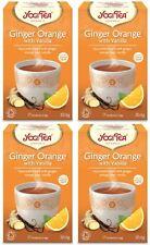 Yogi Tea té Ginger Orange con vainilla - 17 Bolsas (Paquete de 4)