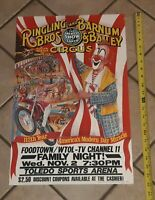 Ringling Bros circus POSTER 1982 The 112th Year Clown TOLEDO OHIO SPORTS ARENA