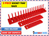 "RED 3 PIECE SOCKET STAND TRAY RACK STORAGE RAIL HOLDER 1/2"" 3/8"" 1/4"" DRIVE 2621"