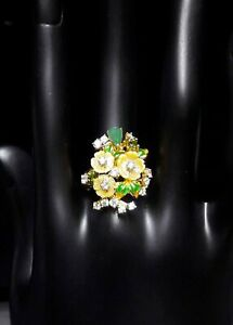GRACEFUL NATURAL EMERALD CHROME DIOPSID MOP. WHITE CZ -STERLING 925 SILVER RING