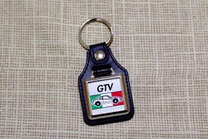 Alfa Romeo GTV Keyring - Type 916 - Leatherette & Chrome Keyfob