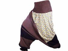 Sarouel Femme marron Pantalon Ethnique Aladin Harem Pant 100% Coton marron