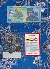 Brunei 1996 1 Ringgit Polymer UNC P22a.2 & 1, 5, 10, 20, 50 Sen 1994 GEM UNC