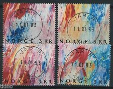 Norway 1989, NK 1072-1075 (From S/S) Son Superb 1342 Jar B 11.01.93 (AK)