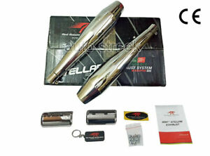 Royal Enfield Interceptor 650cc Red Rooster S S Exhaust Muffler Silencer