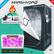 "Mars 600W Led Grow Light Veg Flower Plant Lamp+39""×39""×70"" Indoor Grow Tent Kit"