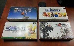 Final Fantasy IV V VI Mystic Quest 4 5 6 Nintendo Super Famicom SFC - USA Seller