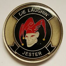 USMC Colonel's Jester Coin Presented by the Commander - Die Laughin'