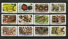 NOUVEAU les 12 timbres du Carnet -   Effets Papillons oblitérés