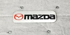JDM mazda brushed aluminum car badge emblem decal sticker