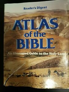 Reader's Digest Atlas of the Bible HCDJ Like New - FREE SHIPPING