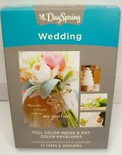 BRAND NEW DAYSPRING WEDDING CHRISTIAN BIBLE SCRIPTURE FULL COLOR 12 CARDS #86073