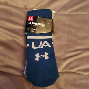 Under armour Socks 3 pairs large crew,  blue, white and gray