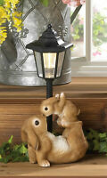 RABBIT bunny baby outdoor statue lantern white LED path SOLAR powered light lamp