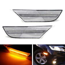 Clear Lens Full Amber LED Bumper Side Marker Lights For 2018-up Honda Odyssey