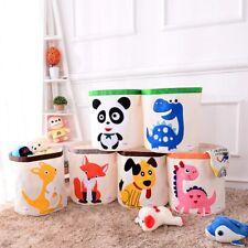 Foldable Kid Toy Storage Laundry Hamper Clothes Basket Washing Bag Buck