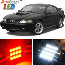 11 x Premium Red LED Lights Interior Package Upgrade for Ford Mustang 1994-2004