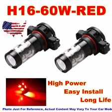 2 X H16 5202 Car 60W LED Fog Driving Light Car Led Lamp Bulb Replacement Red