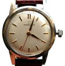 VINTAGE MENS ETERNA MATIC ETERNAMATIC WATCH CALIBER 1248T WORKS WELL NOS BAND