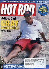 Hot Rod Magazine June 2002 Adios Dad Gray Baskerville 1935 - 2002