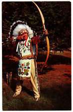 CPSM PF - USA - 1116-K. An Indian Chief trying his Skill