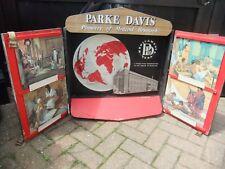 More details for vintage parke davis chemist display case 1940s on rare advertising shop tv  prop