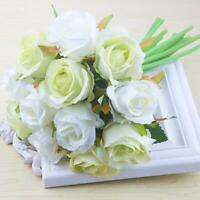 1 Bunch Simulation Holding Roses Artificial Flowers Fake Wedding Home Decor DIY