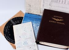WWII Airspeed Indicator Jeppesen Airway Manual Charts Maps Great Lakes Region