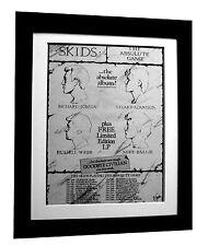SKIDS+Absolute Game+TOUR+POSTER+AD+RARE+ORIGINAL+1980+FRAMED+FAST GLOBAL SHIP