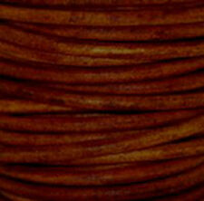 Natural Turkey Red Premium Natural Dye Round Leather Cord  *