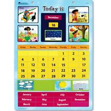Magnetic Learning Wall Calendar Preschool Kids Educational Classroom Home Toys