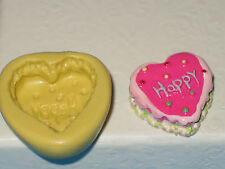 Heart Shape Silicone Push Mold A449 For Craft Chocolate Fondant Resin Clay Candy
