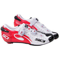 New SIDI WIRE Carbon Road Bike Cycling Shoes White Black Red US Warehouse
