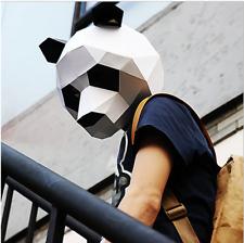 DIY 3D Cartoon Panda Paper Model Mask Masquerade & Party Full Face Mask