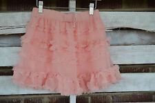 Gap Kids Peach Pale Orange skirt tulle tutu M 8 NWT