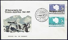CHILE FDC COVER 1972 # 808/9 ANTARCTIC TREATY ANTARCTICA