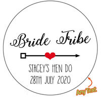 Personalised Bride Tribe Leopard Print Hen Party Stickers
