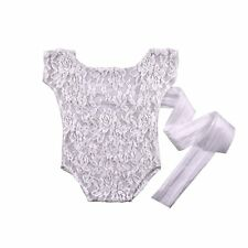 Newborn Infant Baby Girls Lace Floral Romper Bodysuit Jumpsuit Outfits Clothes