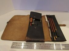 Vintage Parker Hale Shotgun Cleaning Kit Leather Brushes Oiler Made in England