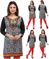 UK STOCK -  Women Fashion Indian Short Kurti Tunic Kurta Top Shirt Dress 51E2