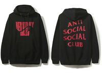 e7d13e5004c0 DS Anti Social Social Club ASSC Red Logo Negativity Rules Black Hoodie in  hand