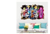 Sticker Vinyl Decal Decor Dragon Ball Z Goku Cartoon 3D Kids Anime Wall Room