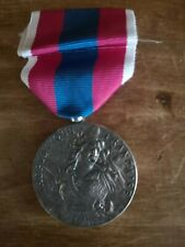 More details for medal and ribbon french national defence silver medal